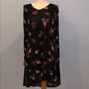 Express Floral Long Sleeve Dress